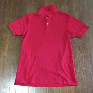 ジーユー(GU)のgu ポロシャツ  赤(ポロシャツ)
