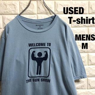 アメリカ古着 マッチョ 筋肉プリント 半袖Tシャツ メンズMサイズ(Tシャツ/カットソー(半袖/袖なし))