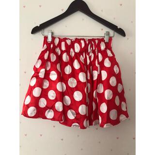 ディズニー(Disney)のディズニー スカート ミニーマウス 赤白ドット柄(ミニスカート)