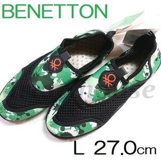 BENETTON - 27㎝ L BENETTON ベネトン アクアシューズ 水陸両用 メンズ GN