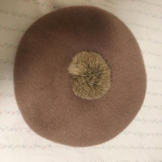 アースミュージックアンドエコロジー(earth music & ecology)のベレー帽 ♥ ベージュ(ハンチング/ベレー帽)