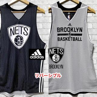 adidas - adidas × NBA ブルックリンネッツ メッシュゲームシャツ タンクトップ