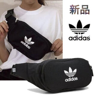 adidas - adidas ボディバッグ ウエストバッグ 黒 新品