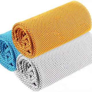 【2020 新型竹繊維 超冷感タオル 3枚セット】 UVカット 熱中症対策 瞬冷