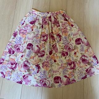 ストラ(Stola.)の花柄スカート♡stola(ひざ丈スカート)