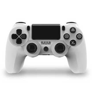 PS4 ワイヤレスコントローラー ホワイト 白色 ガラコン(柄コントローラー)(その他)