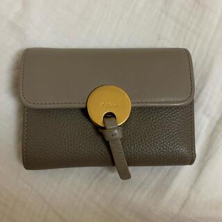クロエ(Chloe)の明日削除 Chloe INDYトリフォールドウォレット クロエ 折りたたみ財布(財布)
