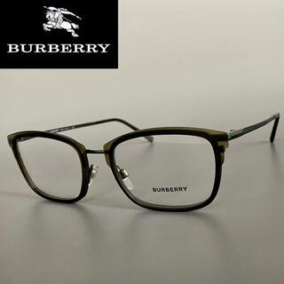 バーバリー(BURBERRY)のメガネ バーバリー マットグリーン ブラウン メンズ オシャレ めがね 緑(サングラス/メガネ)