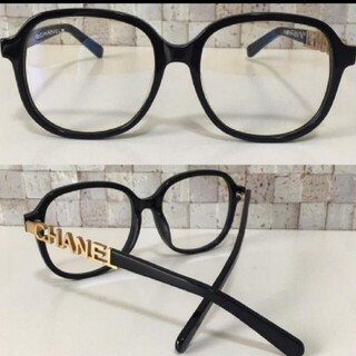 CHANEL - CHANELメガネ CHANEL 眼鏡 黒縁メガネ 伊達メガネ
