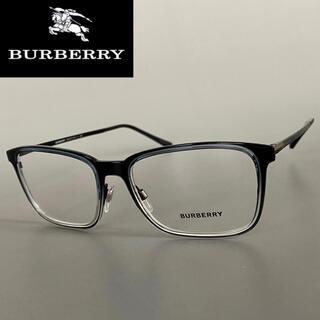 バーバリー(BURBERRY)のメガネ バーバリー マット ブラック スケルトン メンズ レディース メタル 黒(サングラス/メガネ)