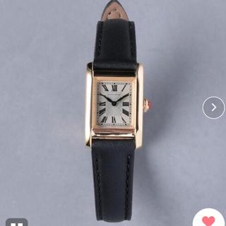 ユナイテッドアローズ(UNITED ARROWS)のUNITED ARROWS UBCB スクエア レザー 腕時計 GLD† (腕時計)