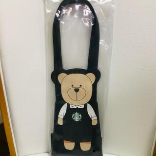 スターバックスコーヒー(Starbucks Coffee)のスタバ ドリンクホルダー 黒 ベアリスタ スターバックス 限定 台湾 トート(トートバッグ)