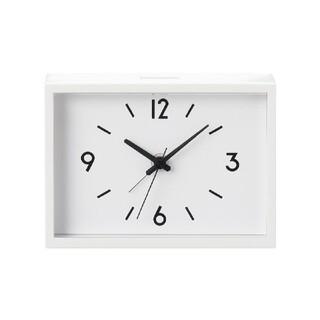 ムジルシリョウヒン(MUJI (無印良品))の無印良品 駅の時計 置き時計 掛け時計 アラーム クロック スクエア(置時計)