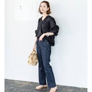 IENA - イエナ☆IENA LA BOUCLE リネン セーラーカラースキッパーシャツ