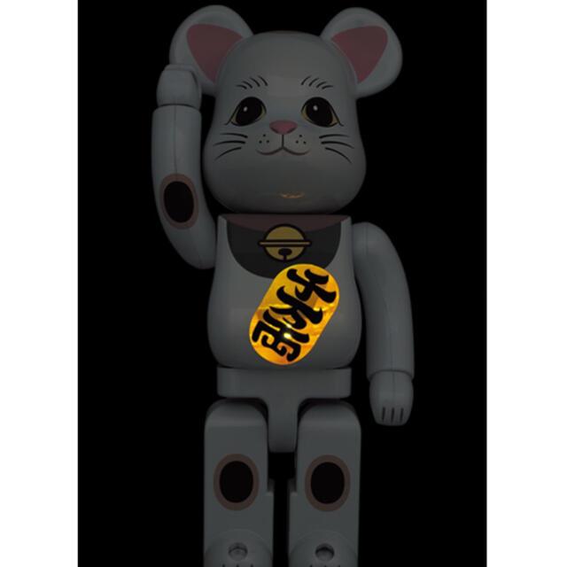 MEDICOM TOY(メディコムトイ)のBE@RBRICK 招き猫 白メッキ 発光 400% 2体 エンタメ/ホビーのフィギュア(その他)の商品写真