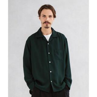 STUDIOUS - UNITED TOKYO サテンオープンカラーロングスリーブシャツ