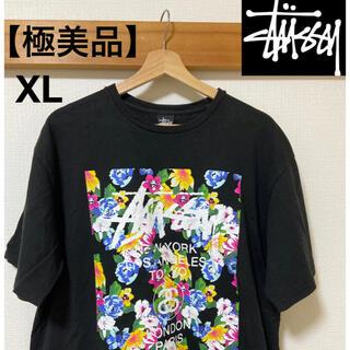 STUSSY - 【極美品】stussy 花柄 総柄 オーバーシャツ XL