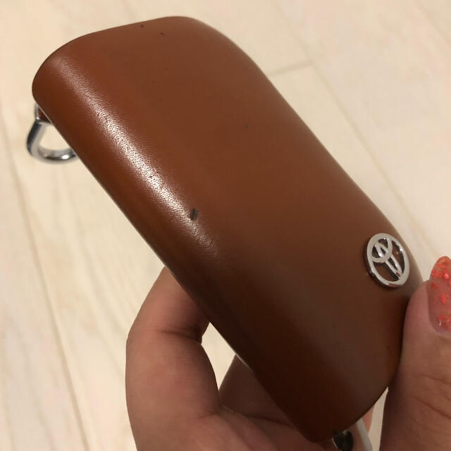 トヨタ スマートキー ケース レザー ブラウン メンズのファッション小物(キーケース)の商品写真
