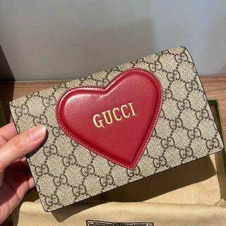 Gucci - ハート モチーフ付き チェーン カードケース ウォレット