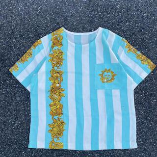エムシーエム(MCM)の90s 古着 MCM 総柄 tシャツ (Tシャツ(半袖/袖なし))