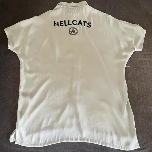 MILKBOY(ミルクボーイ)のmilkboy ミルクボーイ HELLCAT SHIRTS サックス メンズのトップス(シャツ)の商品写真