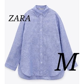 ZARA - 新品 オーバーサイズリネンシャツ M 完売品