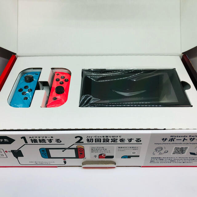 Nintendo Switch(ニンテンドースイッチ)のSwitch本体セット(ネオンカラー) エンタメ/ホビーのゲームソフト/ゲーム機本体(家庭用ゲーム機本体)の商品写真