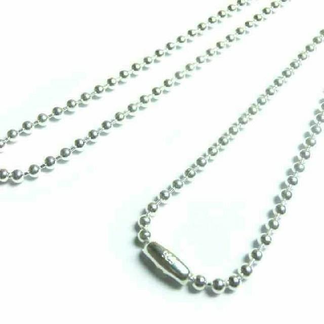 ボール チェーン50㎝ silver925 メンズ アクセサリー メンズのアクセサリー(ネックレス)の商品写真