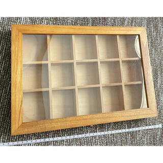 ニトリ(ニトリ)の木製コレクションケース (小物入れ)