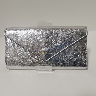 Balenciaga - 【新品未使用】バレンシアガ 長財布 メタリックシルバー