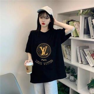 美品♣️オシャレ モノグラム柄 レディースTシャツ