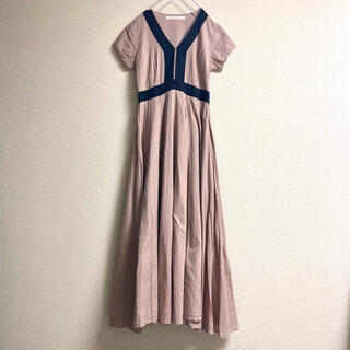 IENA - MARIHA 夏のピアノのドレス くすみピンク