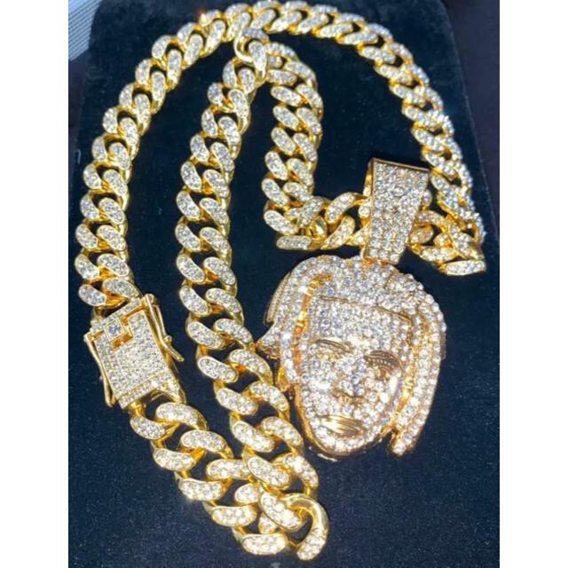 ブリンブリンネックレス テンタシオン ゴールドシルバー マイアミキューバチェーン メンズのアクセサリー(ネックレス)の商品写真