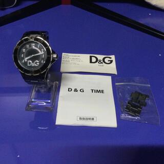 ドルチェアンドガッバーナ(DOLCE&GABBANA)の★早い者勝ちSALE!★ D&G メタル ブラック腕時計(腕時計(アナログ))