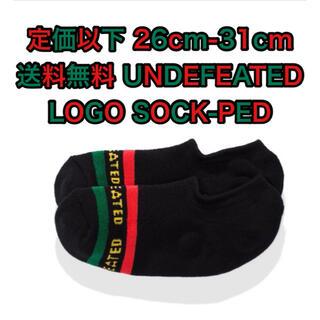 アンディフィーテッド(UNDEFEATED)のundefeated アンディフィーテッド ソックス 靴下 黒 ショートソックス(ソックス)