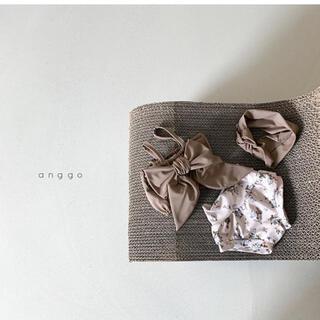 韓国子供服 anggo 水着セット ブラウン L