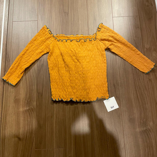 スライ(SLY)のSLY 新品 未使用 タグ付き トップス 七分丈 オレンジ スクエアネック(Tシャツ(長袖/七分))