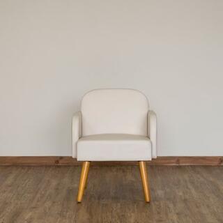 新品 送料無料 Collone アームチェア PVC ホワイト
