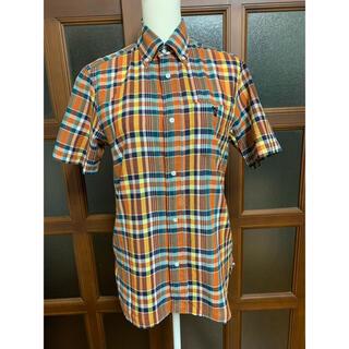 coen - coenチェック半袖シャツ
