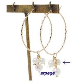 agete - agete K10 パール ピアス イヤリング チャーム * 淡水パール 美品