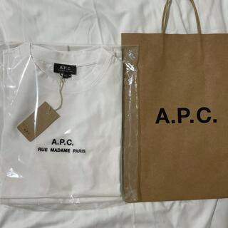A.P.C - 【新品】APC XS アーペーセー Tシャツ ロゴ刺繍