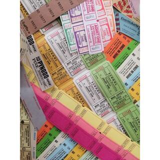 ジャンクジャーナル・コラージュ素材 150枚 チケット、クーポン、シールetc