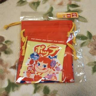 サンリオ - 巾着 ポーチ 小物入れ お菓子入れ ペコちゃん キャラクターグッズ 未使用