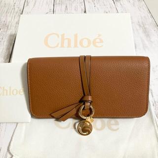 Chloe - 【大人気!Cチャーム付き】chloe クロエ アルファベット 長財布 TAN