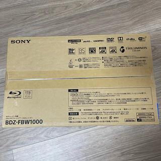 SONY - 【新品未開封】BDZ-FBW1000 SONY ソニー ブルーレイレコーダー