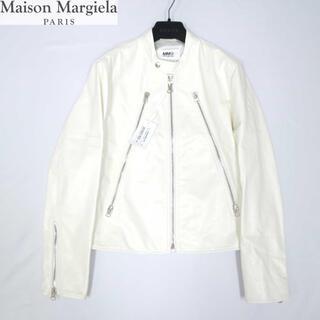 MM6 - メゾンマルジェラ6 19万新品最高級カーフホワイトレザージャケット