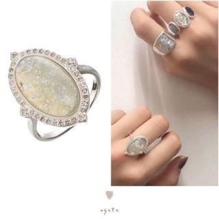 agete - agete♡ローマンガラスSVリング♡ダイヤモンド♡アガット