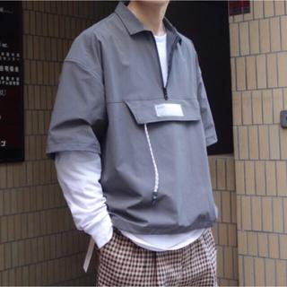 ジエダ(Jieda)のJieDa HALF ZIP S/S SHIRT GREY 1(シャツ)