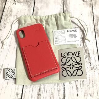 ロエベ(LOEWE)の【新品訳あり品のため格安出品】LOEWE ロエベ ピンク iPhoneX XS(iPhoneケース)