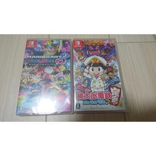 Nintendo Switch - 【新品未開封】桃太郎電鉄 マリオカート8デラックス セット  Switchソフト
